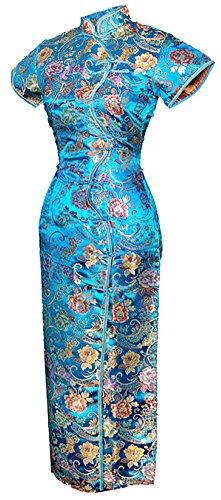 Jahrgang Chinesisch Kleid Cheongsam Lang Zehn Tasten Größe De 40 (Roter-teppich-themen-abschlussball)