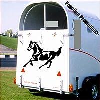 Pferd im Galopp Aufkleber Anhänger Pferd Anhänger ca. 80x60cm