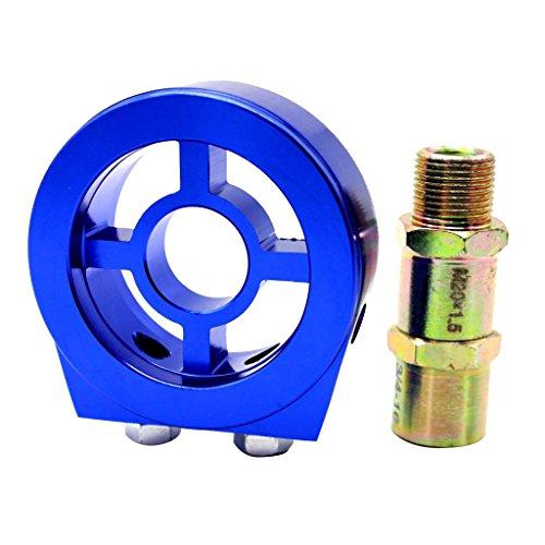 Preisvergleich Produktbild Homyl Ölkühler Ölfilter Adapter Platte-Öldrück-Ölfilteradapter,  Direkt Ersatz- Blau