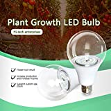 YANLE E27 12 W/15 W LED Plant Groei Lamp Lamp, Volledige Spectrum Groei Lamp, voor DIY Indoor Planten/Bloemen/Kassen/Indoor Tuin/Hydroponic 15 watt.