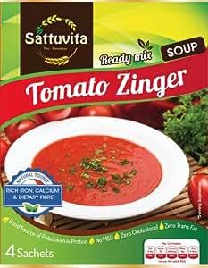 Sattuvita Zinger Soup, Tomato, 20g (4 Sachets)= 80g