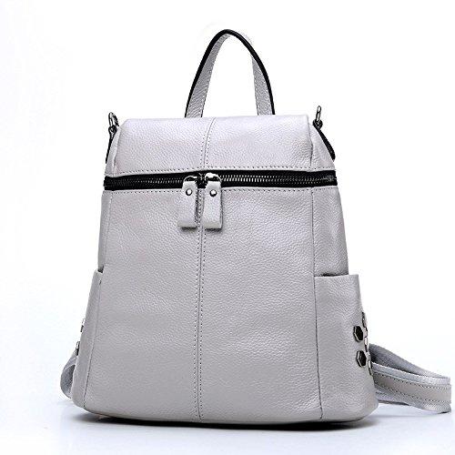 la borsa di pelle nuova donna multi o cinghie,blu grigio chiaro