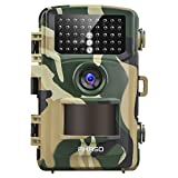 Wildkamera 14MP 1080P Full HD - AKASO Jagdkamera Fotofalle Beutekamera mit Bewegungsmelder 20M Nachtsicht IP66 Wasserdichte 120°Weitwinkel 2.4'' LCD Loop-Aufnahme Garten- Hausüberwachung GR