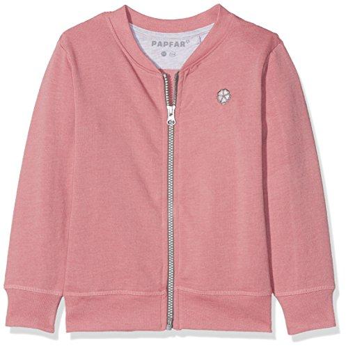 Papfar Mädchen Strickjacke Sweat Kids Sweatshirtjacke Gots-Zertifiziert, Rosa (Dusty Rose 516), 140 (Herstellergröße: 10Y)