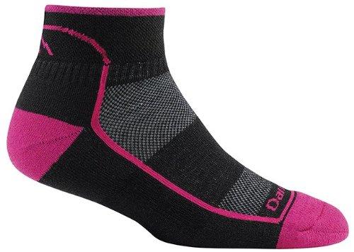 Darn Tough Vermont Damen 1/4Coolmax Ultraleichte Athletic Socken, unisex damen, Blackenberry (1/4 Sock Coolmax)