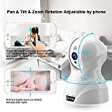Dome Kamera - Atuten WiFi IP Kamera 1536P Wireless Überwachungskamera,Smart Home Kamera mit Nachtsicht,Auto-Rotation,2 Wege Audio,Bewegungsalarm,64G TF Card,Baby Monitor,Kompatible mit Alexa Echo Show - 3