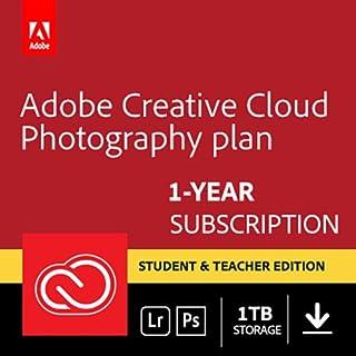 Adobe Creative Cloud Photography plan 1TB: Photoshop CC + Lightroom CC   Student & Teacher   1 Year Licence   PC/Mac   Online Code & Download