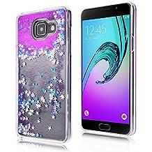 Coque Galaxy A3 (2016), SpiritSun Housse Étui Clair Étoile pour Samsung Galaxy A3 (2016) SM-A310 Ultra Mince Rigide Strass Coque Crystal Case PC Dur Couverture - Violet