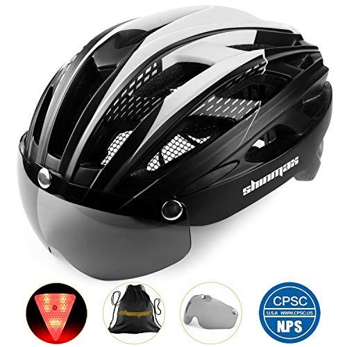 Shinmax Casque de vélo avec éclairage LED, Casque de vélo avec éclairage de sécurité Casque de...