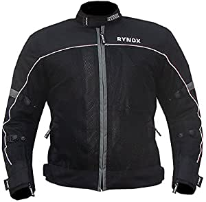 Rynox Mesh/Polyester Air GT Riding Jacket (Grey and Black, Large)