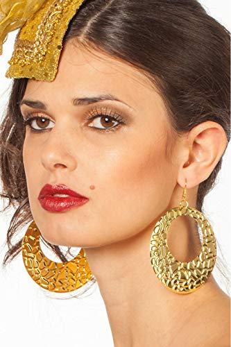 Ohrringe Groß Metall, Gold