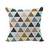 Nunubee Bohême Géométrique housse de coussin décoratif scandinave chambre Taie d'Oreiller Sofa 45x45cm Style 24