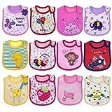 Yafane Bavoirs Bébé Imperméables Coton Bandana pour Enfant Bébé Fille Garçon 0 à 36 mois