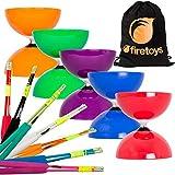 Juggle Dream Big Top Diabolo, bastoni Superglass fibra Diablo & Bag Firetoys®! Scegli il tuo colore! (Diabolo Rosso/Bastoni Neri)