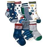 MNBS bebé niños algodón antideslizante calcetines de algodón acogedor suave valor (Pack de 7) A Talla:0-3(9-15cm)