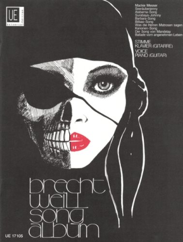 Universal Edition brecht-weill songalbum–PVG Partition clásica voz–Coro voz solo, piano