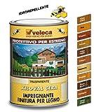Veleca 8002417040978 Xiloval Cera, Impregnante Cerato per Legno, Castagno