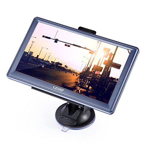 Navigationsgerät LESHP Europe Traffic Navigationssystem inkl. FREE Lifetime Maps, 8GB 17,8 cm (7 Zoll) Display