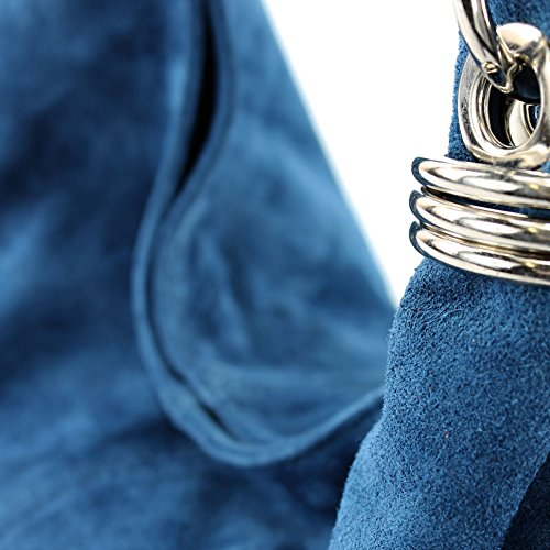 Made Italy, Borsa a spalla donna Jeansblau