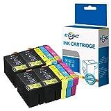 ECSC kompatibel Tinte Patrone Ersatz für Epson WorkForce WF-3620 WF-3620DWF WF-3640DTWF WF-7110DTW WF-7210DTW WF-7610DWF WF-7620DTWF WF-7620TWF WF-7710DWF (BK/C/M/Y, 10-Pack)