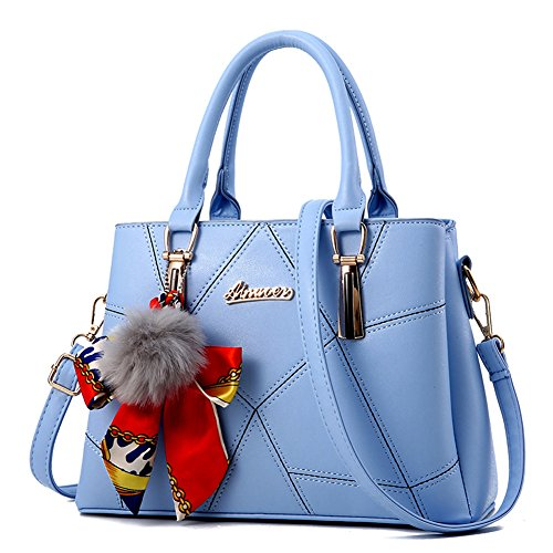 Ruiren Womens Shopper Shoulder Bag Packet Messenger Bag Ladies Handbag Borsa Femminile Cielo blu