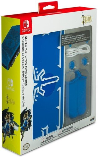 PDP Nintendo Switch The Legend of Zelda: Breath of the Wild Starter Kit mit Reiseetui, Displayschutz, Joy-Con Schutzhüllen und Ohrhörern, 500-026 (Kit Wii Starter)