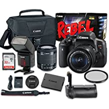 Canon EOS Rebel T6i 24.2 MP Digital SLR Camera Bundle With EF-S 18-55mm F/3.5-5.6 IS STM Lens + SanDisk 32GB Ultra Class 10 SDHC + Accessory Kit