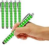 ONX3 ® Blackberry Z3 Polka capacitiva di alluminio dello stilo della penna di tocco (5 Pack) (Verde)