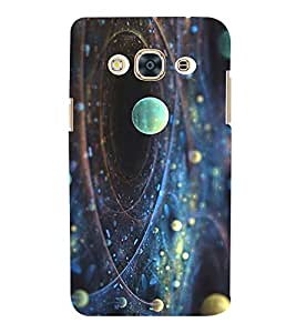 SPACE VIEW OF ROTATING PLANETS 3D Hard Polycarbonate Designer Back Case Cover for Samsung Galaxy J3 Pro :: Samsung Galaxy J3 (2017)