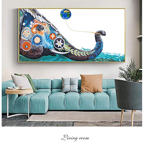Pared de elefantes Pintadas en lienzo Pinturas en la pared Carteles e...