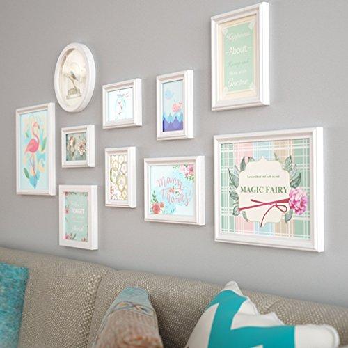 Preisvergleich Produktbild Bilderrahmen Fotorahmen Collage Massivholz Kombination Wohnzimmer Bilderrahmen Wand Kreative Restaurant Hintergrund Wand Dekoration ( Farbe : B )