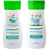 Mamaearth Cleansing Baby Shampoo, 200ml with Deeply Nourishing Baby Wash, 200ml