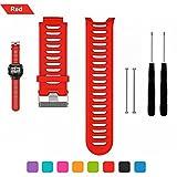 Bemodst Garmin Forerunner 910 XT Bracelet de remplacement, bracelet respirable de montre-bracelet de silicone avec des outils de retrait, Red