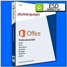 Microsoft Office 2013 Professional Plus Completa (licenza perpetua) | licenza elettronica ESD | Medialess | No CD / DVD | Spedito in giornata tramite comunicazione Amazon