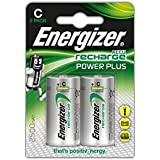 Energizer NimH-Akku Rechargeable Power Plus Baby (C) (1,2Volt 2500mAh, 2er-Packung)