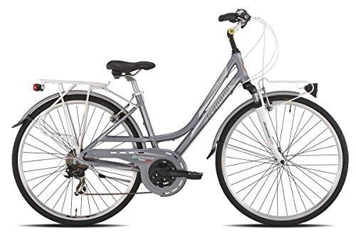 LEGNANO BICICLETA 421SMERALDA LADY 21V TALLA 44SILVER/GRIS (CITY)/BICYCLE 421SMERALDA LADY 21S SIZE 44SILVER/GREY (CITY)