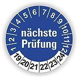 5-1.000 Stück Prüfplaketten Prüfetiketten Wartungsetiketten nächste Prüfung Ø 30mm (Blau 30 Stück)