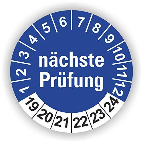 5-1.000 Stück Prüfplaketten Prüfetiketten Wartungsetiketten nächste Prüfung Ø 20mm (Blau 90 Stück)
