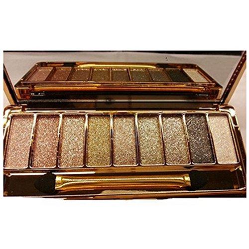TOOGOO Maquillage Ombre a Paupieres Fard a paupieres a 9 Couleurs Impermeable pour les femmes Palette avec Brosse 6#