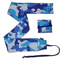 Par de muñequeras Strength Color Camuflaje Azul para Crossfit, Gym, Fitness. Regalo