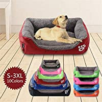 Gamloious 10 Colors Paw Pet Sofa Dog Beds Waterproof Bottom Soft Fleece Warm Cat Bed House Cama Perro - m