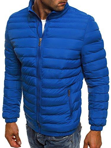 OZONEE Herren Winterjacke Steppjacke Sweatjacke Wärmejacke Jacke Parka Gesteppt J.BOYZ X1008K Blau_JB-X1008K_KU