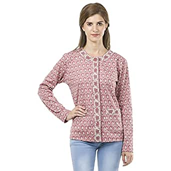 Reevolution Women's Pink Cotton Cardigan (WCHC120032-S, Small)