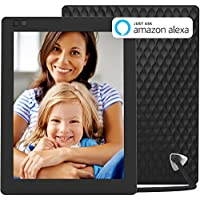 Nixplay Seed WiFi 10 inch Digital Photo Frame with IPS Display, Alexa integration, iPhone & Android App, Free 10GB Online Storage, and Motion Sensor, Black - W10A