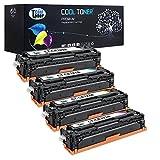 Cool Toner 4 pack kompatibel toner fuer CE320A CE321A CE322A CE323A(128A) kompatibel fuer HP LaserJet Pro CP1525N CP1525NW, CM1415FN CM1415FNW MFP, K-2000 Seiten, C/M/Y-1300 Seiten