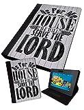 WE WILL Serve the Lord V2| Printed Tablet Schutzhülle, klappbar Faux | Samsung Galaxy Tab 2| 17,8cm (P3100)