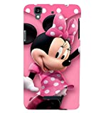 Printvisa Premium Back Cover Polka Dot Pink Mickey Mouse Design for YU Yureka Plus::Micromax Yureka Plus YU5510A