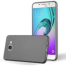 Cadorabo - Ultra Slim TPU Gel (silicone) Coque Métallique Mat pour Samsung Galaxy A5 (6) - Modèle 2016 - Housse Case Cover Bumper en METALLIC-GRIS