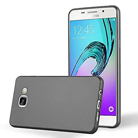 Cadorabo - Ultra Slim TPU Gel (silicone) Coque Métallique Mat pour Samsung Galaxy A3 (6) - Modèle 2016 - Housse Case Cover Bumper en METALLIC-GRIS