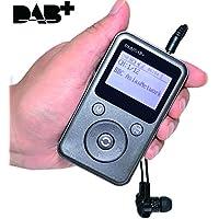 """XISEDO DAB / DAB Portátil Radio Digital FM Radio Reproductor Compacto de MP3, Receptor Estéreo Pocket DAB, Admite Tarjeta SD with 1.8"""" Pantalla LCD y Batería Recargable Incorporada, 3.5mm Auricular Incluido"""